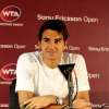 Roger Federer Holds Press Conference at Sony Ericsson Open