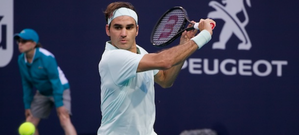 Federer Fends Off Albut to Advance to the Third Round at the Miami Open
